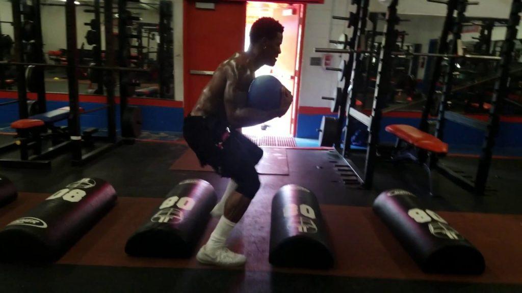 Chris Carsons seattle seahawks RB off season training