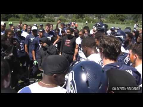 Kendrick Lamar at Seahawks Training camp