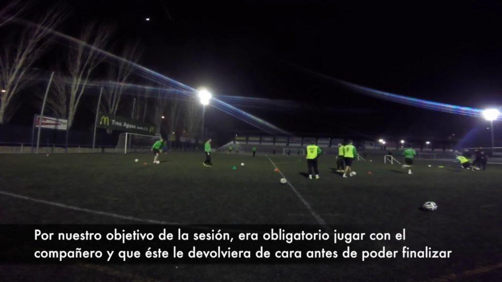 Reaction speed exercise in soccer TTT