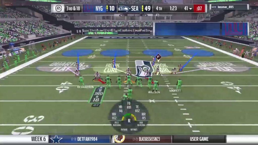 Week 6 : Season 2: New York Giants @ Seattle Seahawks