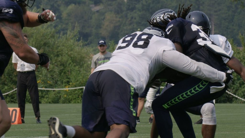 Seahawks Camp Highlight: Garrison Smith Forces a Safety