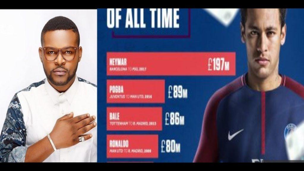 Falz Reacts To Neymar's Transfer Deal Says His Children Must Play Football Not Music or Law