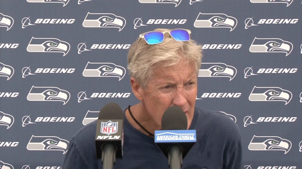 Seahawks Head Coach Pete Carroll Training Camp Day 8 Press Conference