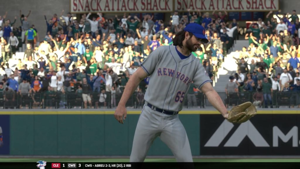 MLB17: The Show. (PS4 Pro) Season Mode (Mets). Game 103. Mets @ Mariners. Gsellman Vs. Smyly