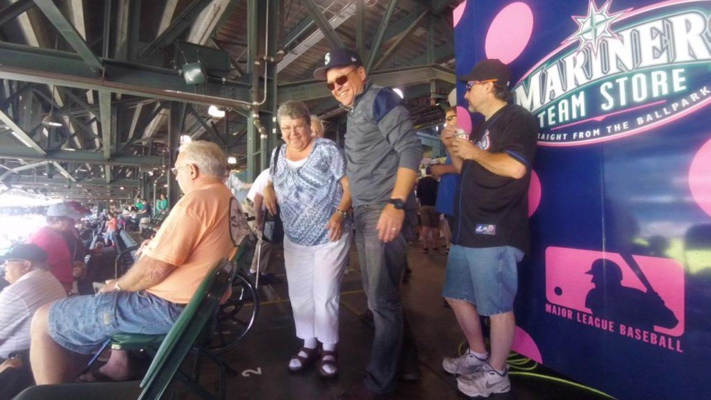 Son Surprises Parents at Mariners Game