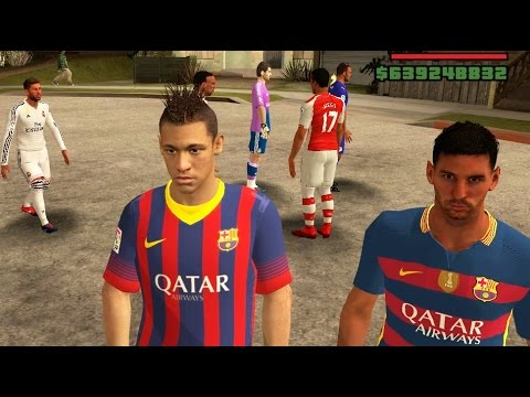 GTA San Andreas Mods – Football Players: Messi, Neymar, Bale, Ribery, Ramos, etc