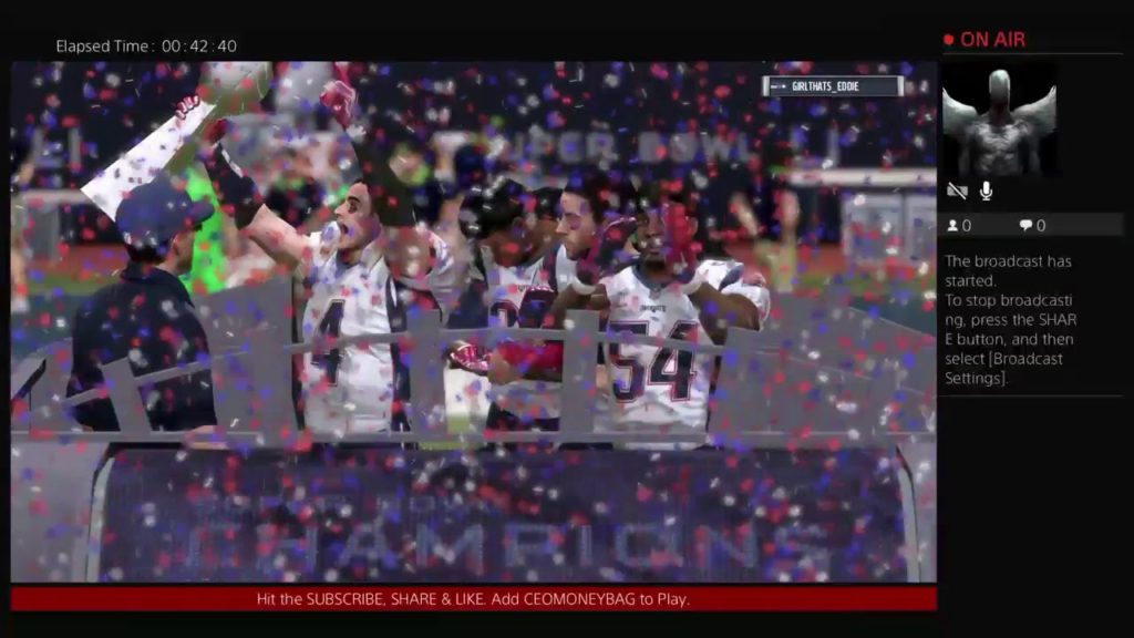 NEW ENGLAND PATRIOTS vs SEATTLE SEAHAWKS – SUPERBOWL – MADDEN 17 PS4