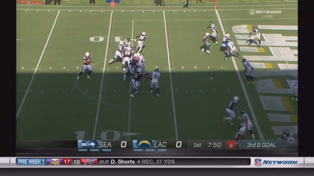 Phillip Rivers throws touchdown to Antonio Gates on opening drive vs Seahawks!!