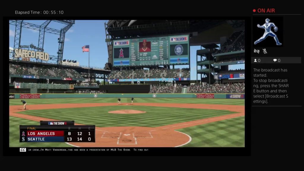MLB 16 The Show-LA Angels of Anaheim at Seattle Game 4