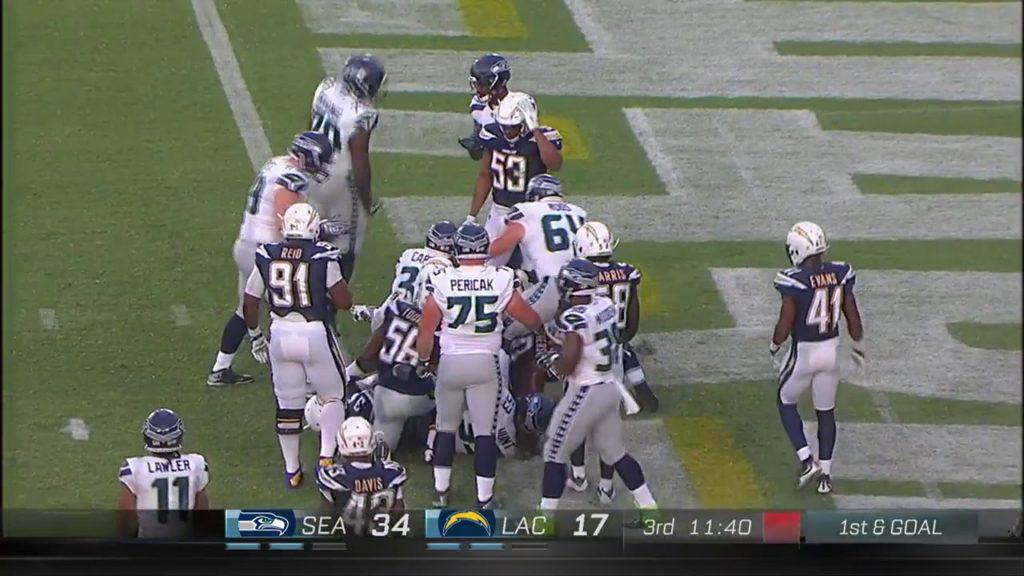 Los Angeles chargers vs Seattle Seahawks preseason