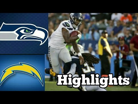 NFL Preseason 2017 (Seahawks At Chargers) Highlights!