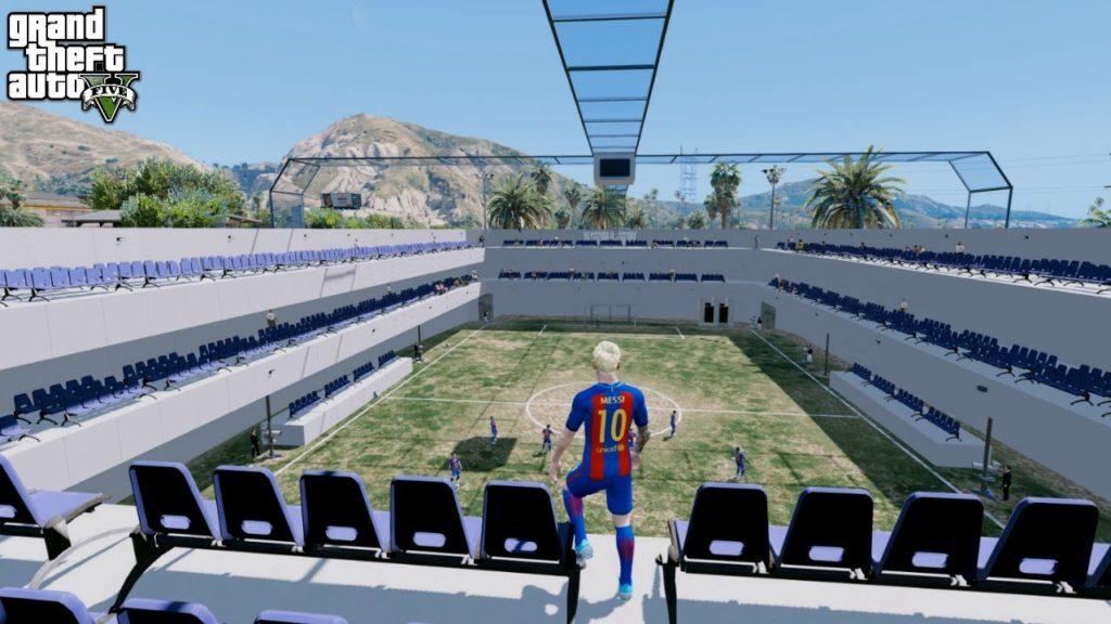 *EXCLUSIVE*REAL FOOTBALL STADIUM IN GTA 5 w/MESSI,NEYMAR (GTA 5 Mods)