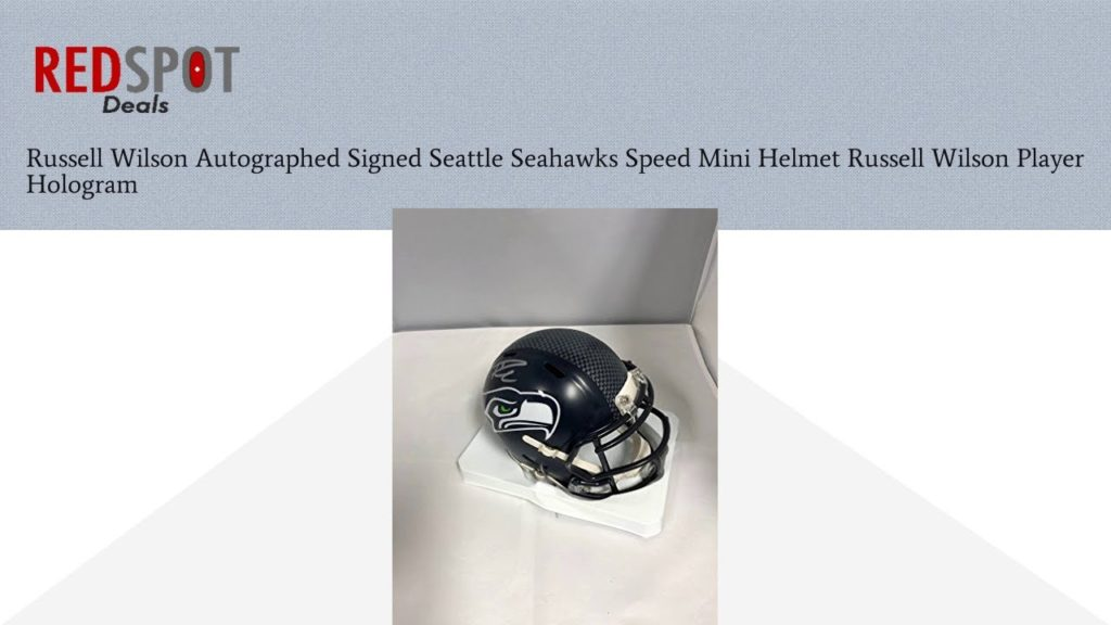 Buy Russell Wilson Autographed Signed Seattle Seahawks Speed Mini Helmet Russell Wilson Player H