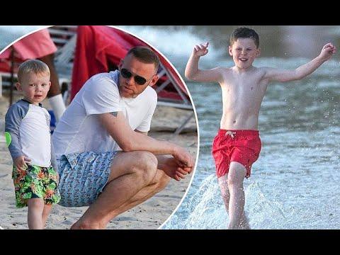 Wayne Rooney's son Kai plays football on the beach in Barbados – 247 News