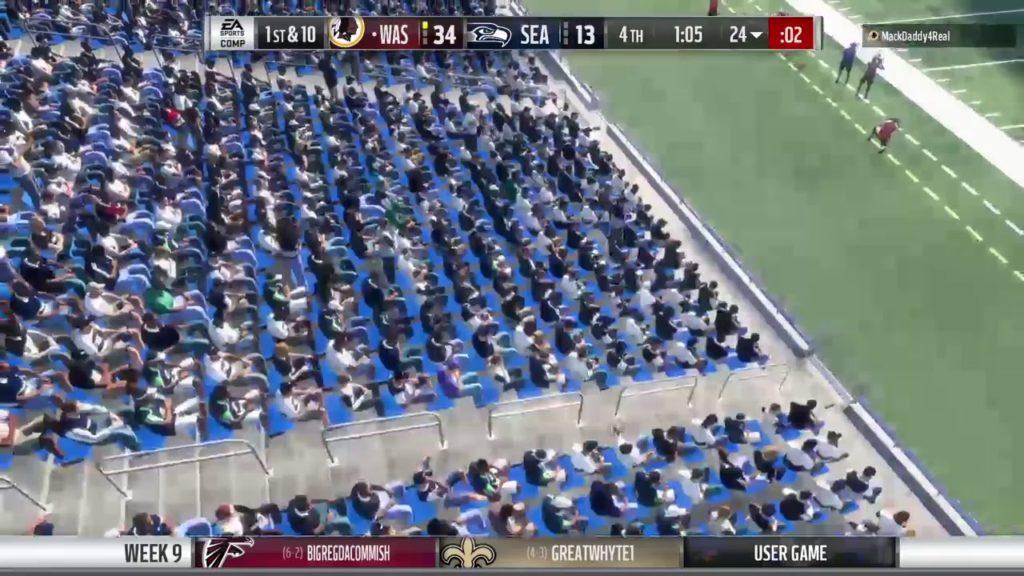 MOF 45 week 9: Seahawks vs redskins