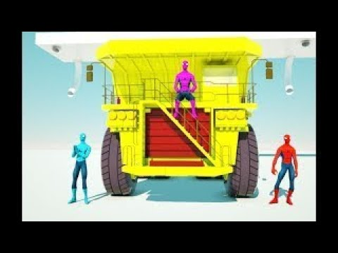Colorful Spidermans play penalty kick football – look who win?