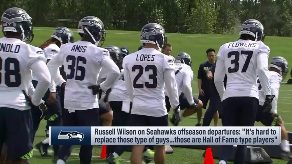 "Russell Wilson on Seattle Seahawks' departures: ""Hard to replace those guys"""