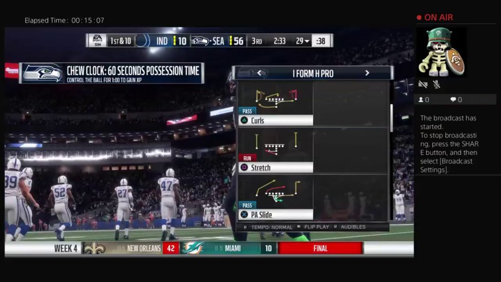 Madden 18 Seahawks vs Colts