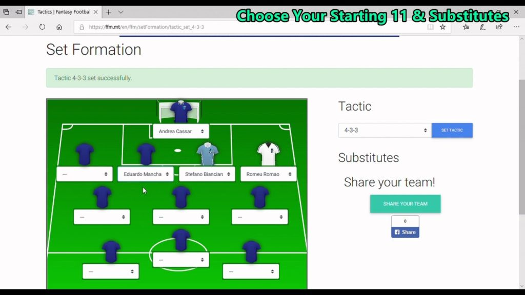 How to play FFM – Fantasy Football Malta