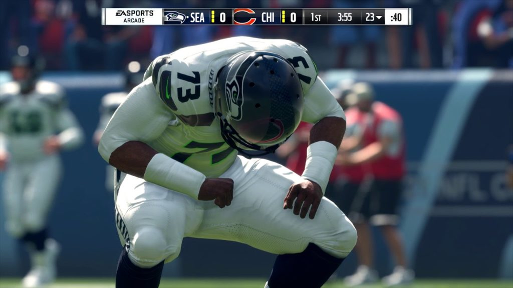 Madden 18, The Chicago Bears vs. The Seattle Seahawks Gameplay DDW