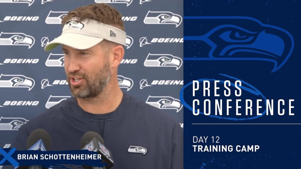 Seahawks Offensive Coordinator Brian Schottenheimer Training Camp Day 12 Press Conference