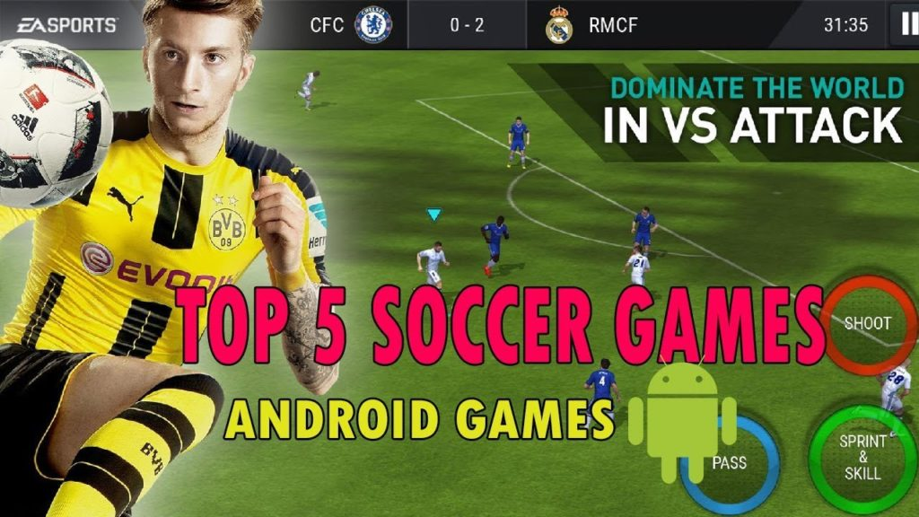 Top 5 Best Soccer/Football Games  For Android 2018