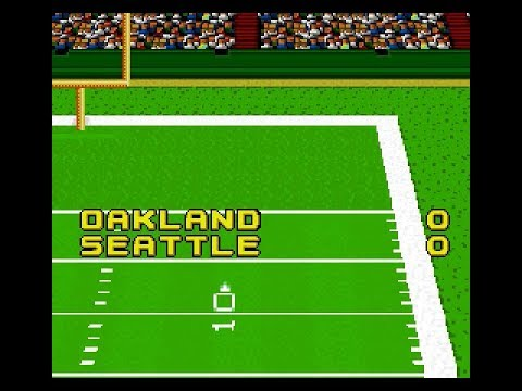 John Madden Football | SNES | Division Round 3 | AFC West | Oakland at Seattle | SGCTS