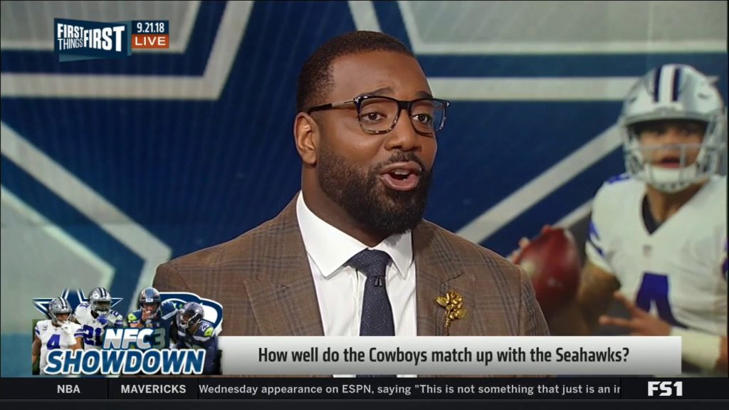 CHRIS CANTY on How well do the Cowboys match up with the Seahawks? | First Things First 9/21/2018