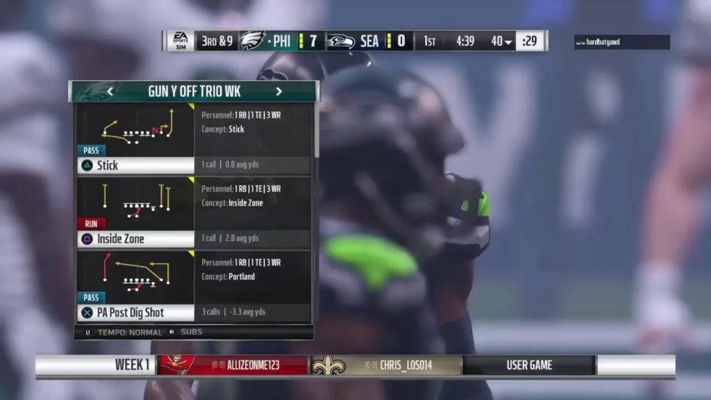 Eagles vs. Seahawks P2W  M19