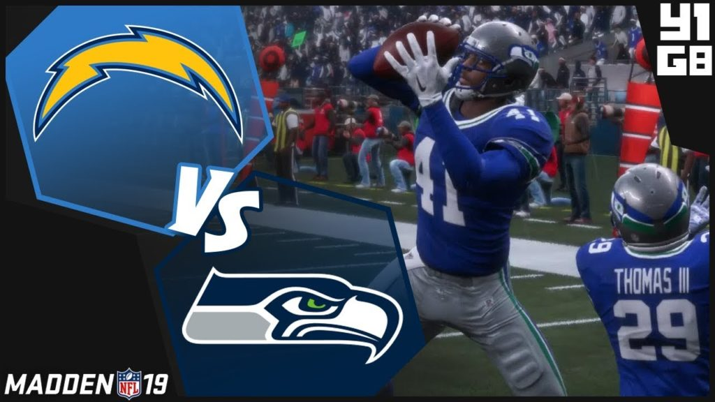 Madden NFL 19 Seattle Seahawks Franchise- Year 1 Game 8 vs Los Angeles Chargers