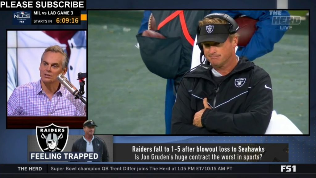 Colin Cowherd on Raiders fall to 1-5 after blowout loss to Seahawks | THE HERD