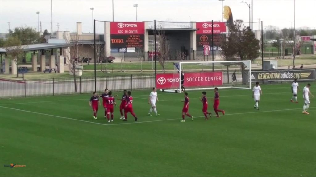CFA U-16 USSDA vs Seattle Sounders – goalkeeper perspective