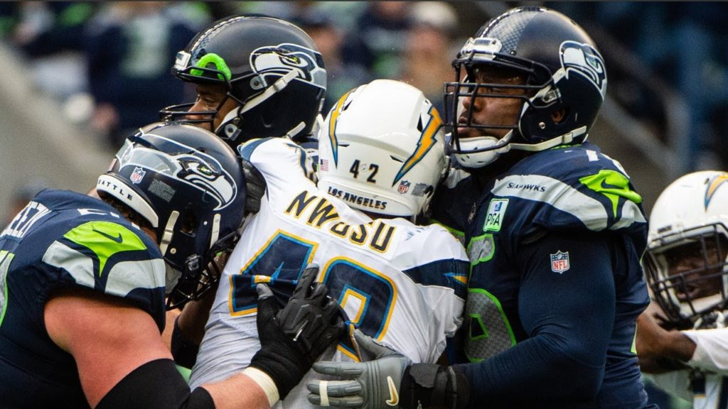'A combination of things' led to Seahawks loss against Chargers, LT Duane Brown says