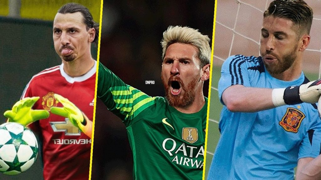 When Outfield Football Players Play As Goalkeepers ft. L.Messi, C.Ronaldo, Luis Suarez & more