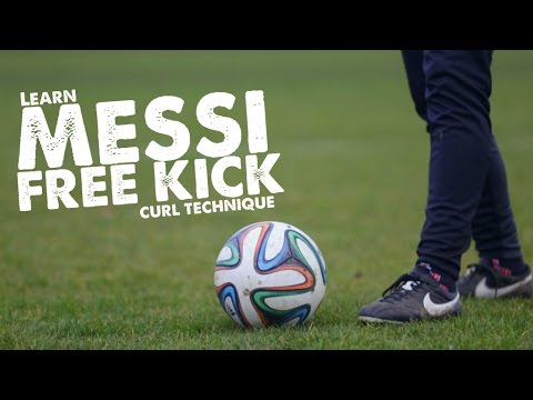 Learn Messi Free kick curve curl technique – Day 39 of 90