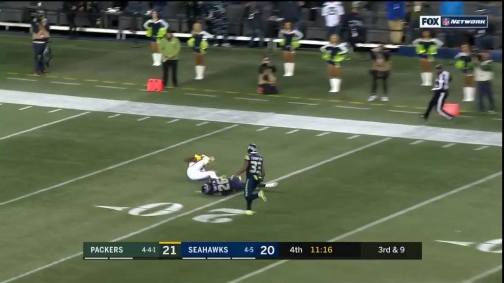 Davante Adams Gets 57 Yard Catch Against The Seahawks (Packers vs Seahawks)