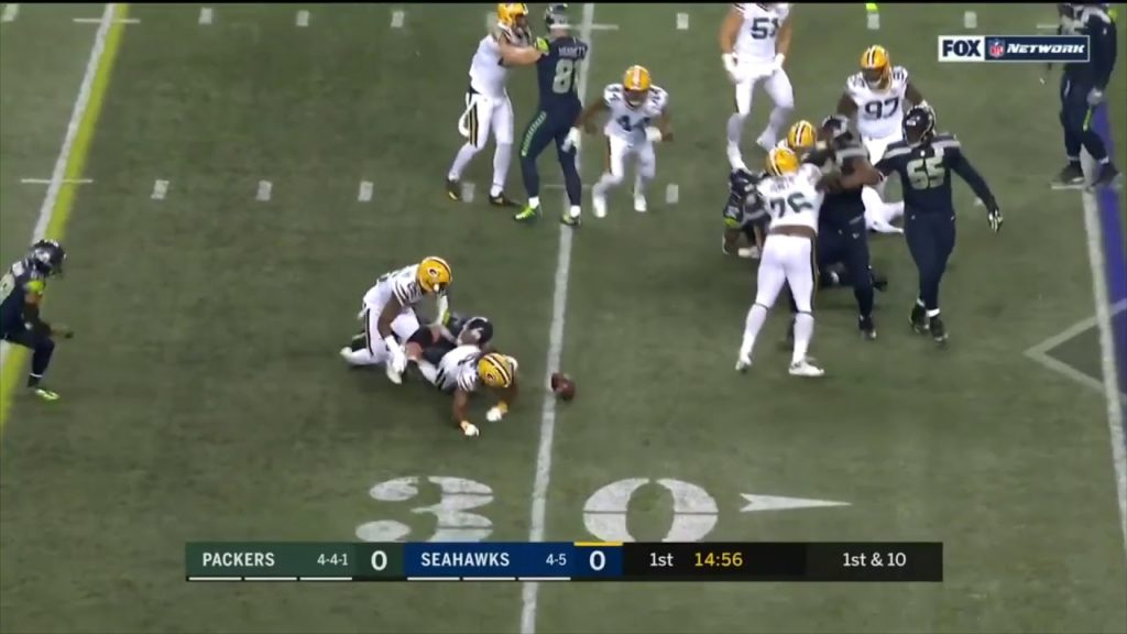 Aaron Jones TD after Fumble to Start The Game | Packers vs Seahawks | NFL
