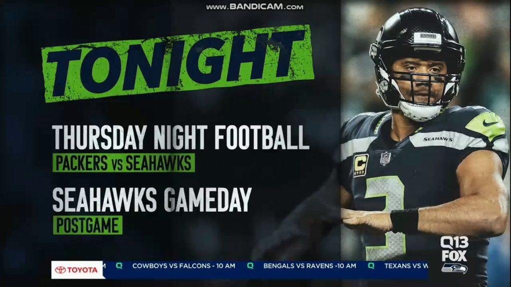 "KCPQ Q13 Fox ""Seahawks GameDay"" pregame show close November 15, 2018"