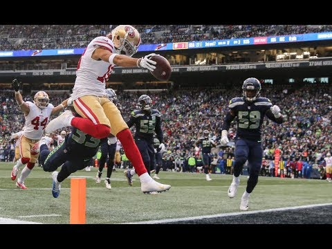 Every Dante Pettis TARGET and RUSH in 2018 Week 13 vs Seattle
