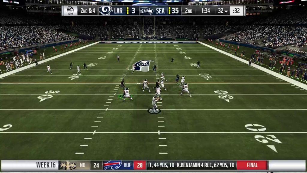 Madden 19 Seattle Seahawks Franchise #55 Season 4 Week 16 vs Rams