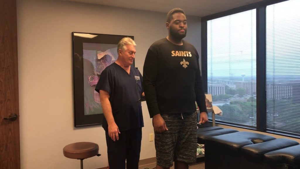 6′ 7″  300 LB Football Player Adjusted By 6′ 239 LB  Old Man Strength Houston Chiropractor