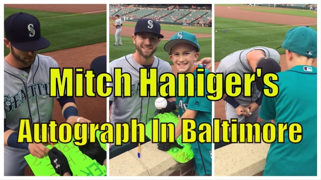 Mitch Haniger's Autograph At Camden Yards, Baltimore | 6/28/18 | Seattle Mariners