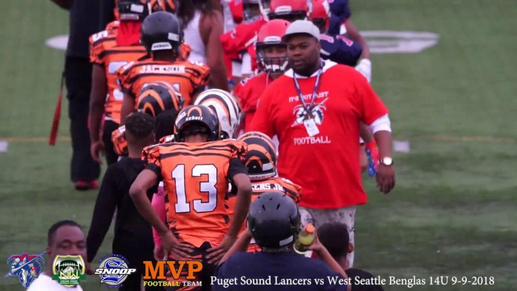 Puget Sound Lancers vs West Seattle Bengals Football 14U Aug 9 2018