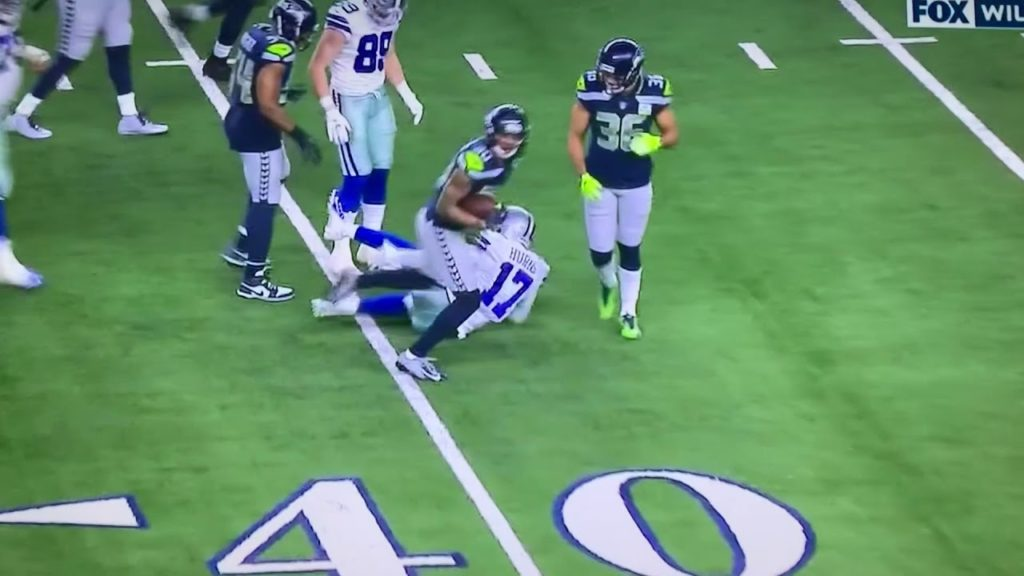 This is one of the worst injuries I've seen  Ouch!!! Seahawks vs