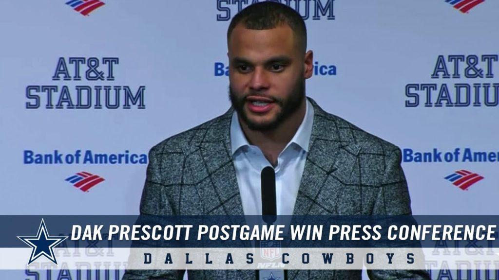 Dak Prescott Postgame Press Conference: Cowboys Win Over Seahawks in Playoffs | Dallas Cowboys 2018