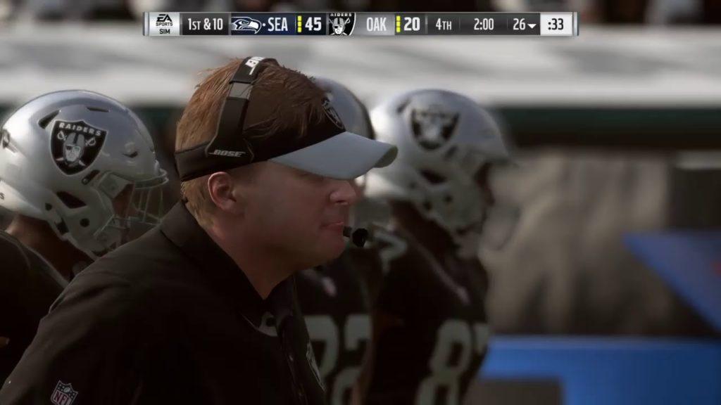 Seattle Seahawks @ Oakland Raiders | Madden NFL 19