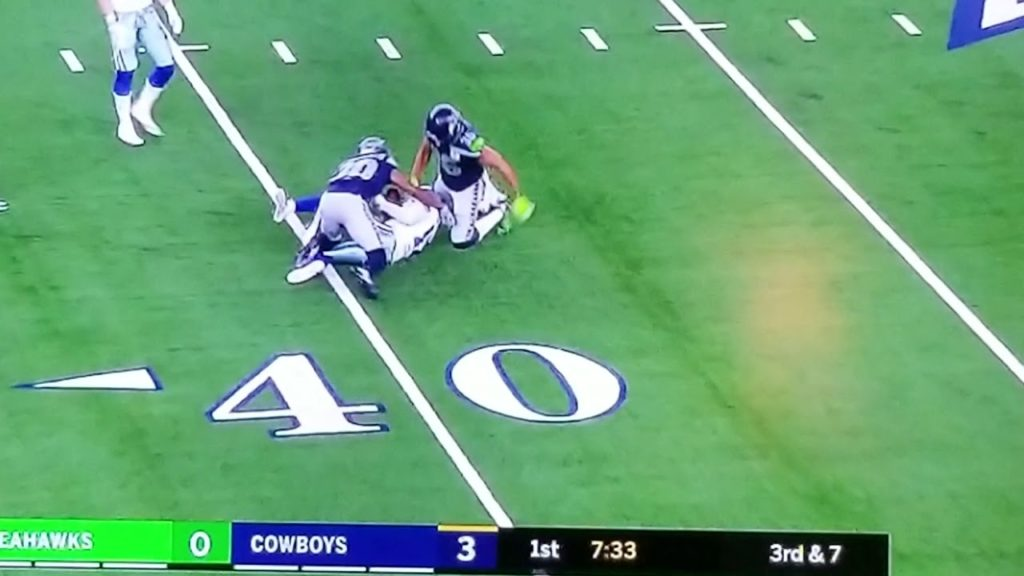 Allen Hurns gruesome ankle injury – Dallas Cowboys vs Seattle Seahawks – NFL