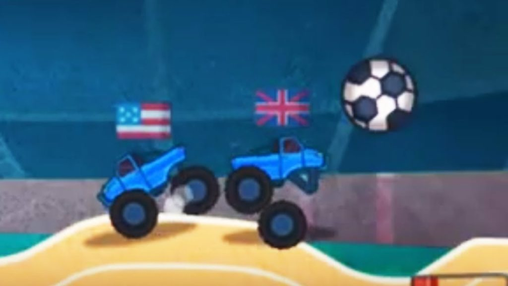 Monster Truck Playing Football  – Monster Truck Destroyer Game Play