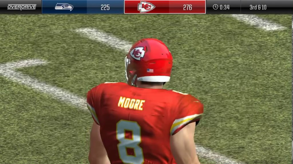 Kansas City Chiefs vs. Seattle Seahawks  Madden overdrive (I'm the Chiefs)