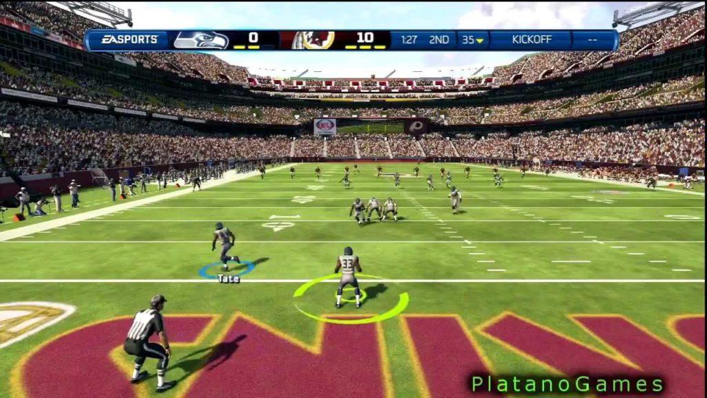 102 Yard Kick Return Touchdown Leon Washington – Seattle Seahawks – Madden NFL '13 – HD